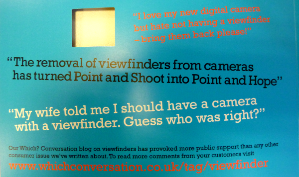 Your comments on our viewfinder pamphlet