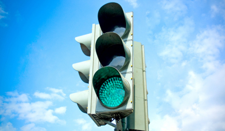 A traffic light
