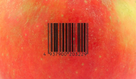 Barcode on apple