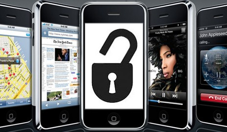 iPhone with padlock symbol
