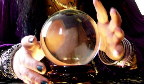 Psychic and crystal ball
