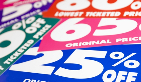Never ending furniture sales colourful sale signs fandeluxe Image collections