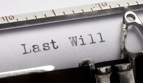 Typewriter typing 'Last will'