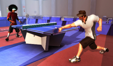 Table Tennis in PlayStation Move game Sports Champions
