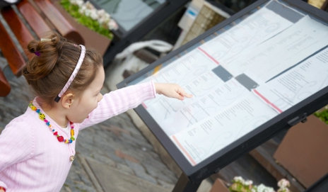 Girl looking at menu