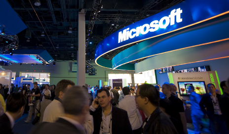 Microsoft stand at Expo