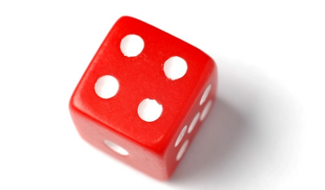 Four on red dice