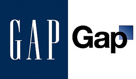Left: old Gap logo. Right: ditched gap logo