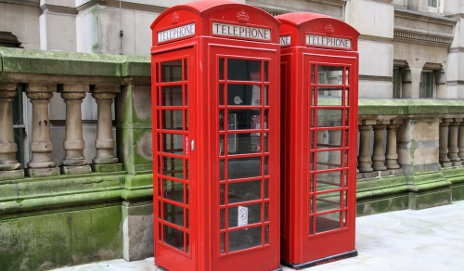 Old-fashioned red phonebox