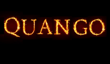'Quango' written in fire