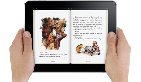 Reading an ibook in iPad