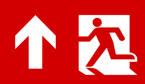 Emergency escape sign