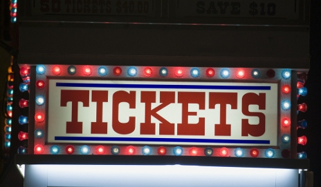 Tickets shop at funfair