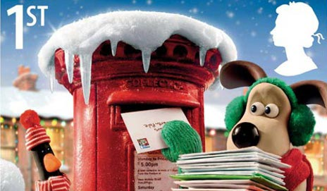 Wallace & Gromit first class stamp