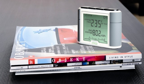 Energy monitor on coffee table