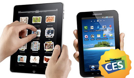 iPad and Samsung Galaxy Tab