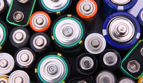Bird's eye view of lots of batteries