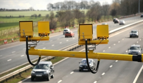 Speed cameras on a motorway