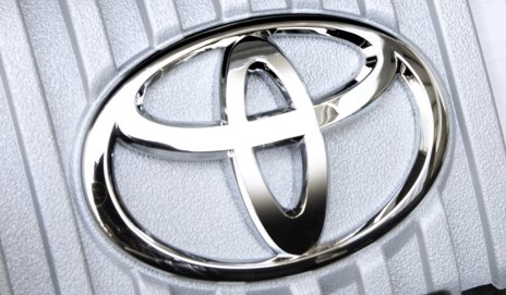 Toyota logo on engine
