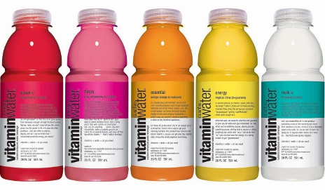 Bottles of VitaminWater