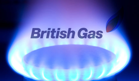 British Gas logo on gas flame