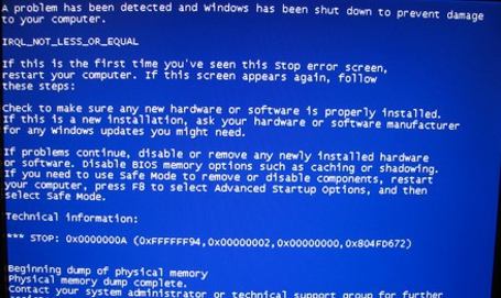 Windows 'blue screen of death'