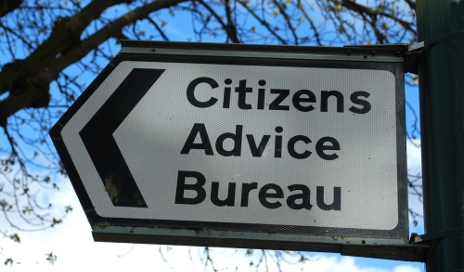 Citizens Advice bureau sign