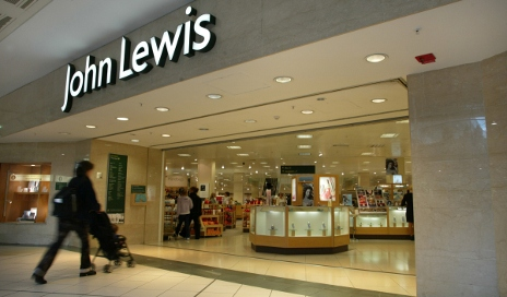 Woman going into John Lewis