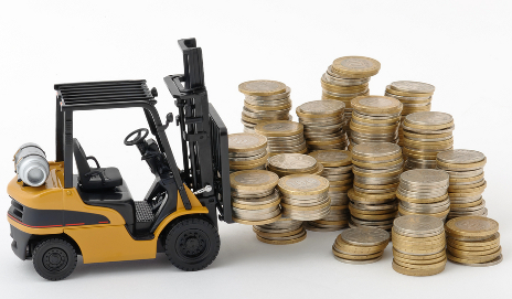 Truck moving coins