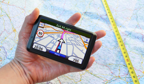 Sat nav on map