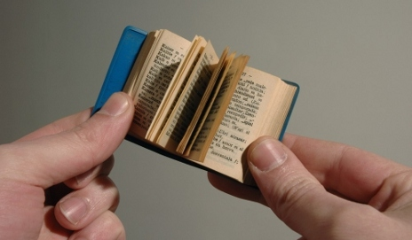 Reading a tiny book