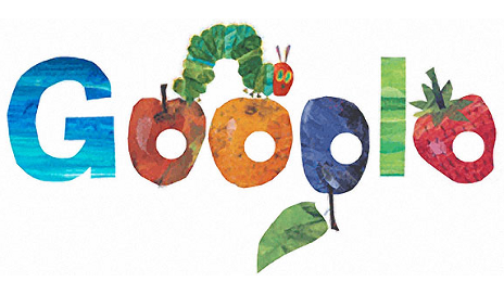 Google Hungry Caterpillar logo