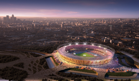 Olympic stadium graphic