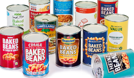 Lots of different types of baked beans