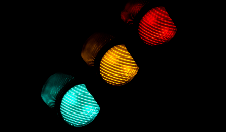 Traffic lights at night