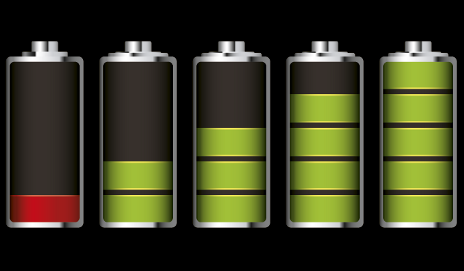 Illustration of batteries charging