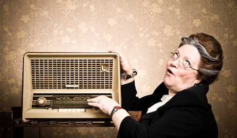 Woman listening to radio