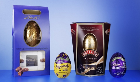 Boxed and 'boxless' Easter eggs
