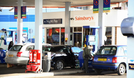 Sainsburys petrol station