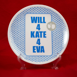 'Will 4 Kate' plate