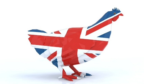 Chicken-shaped Union Jack