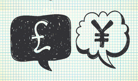 Speech bubbles with money symbols