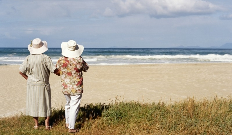 Pensioners on holiday