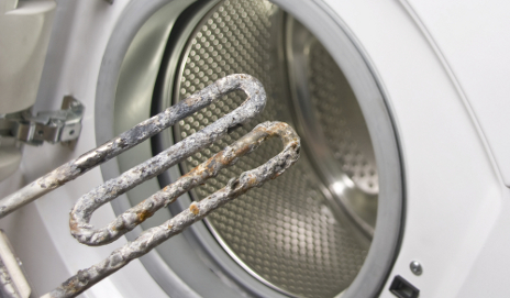 Washing machine with limescale