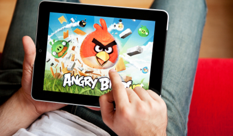 iPad and Angry Birds