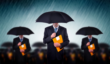 Lawyers under umbrella