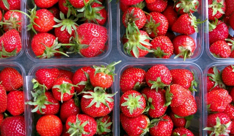 Punnets of strawberries