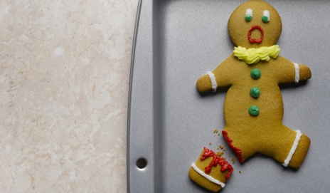Ginger bread with missing leg
