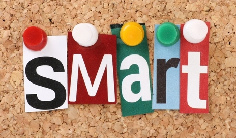 Letters spelling the word smart