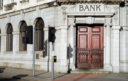 Bank branch closed